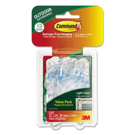 Command All Weather Hooks and Strips, Plastic, Small, 32