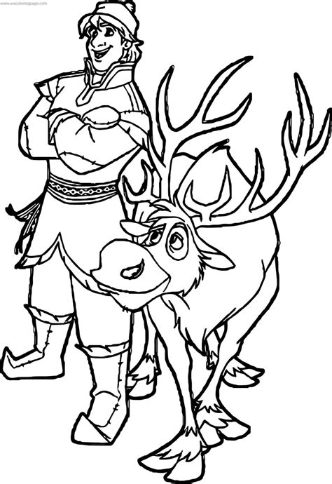 Sven Coloring Pages - Coloring Home