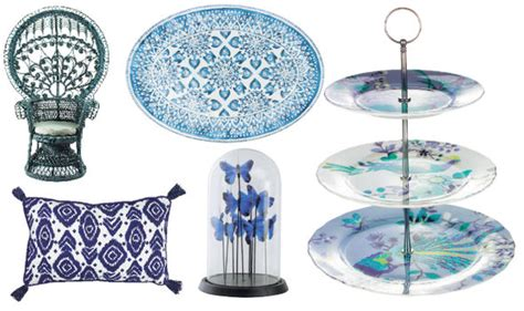 Blue home design: Marks and Spencer, Sainsburys and BHS