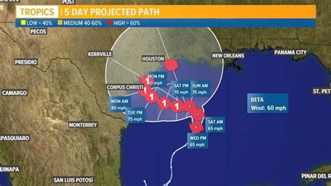 Tropical Storm Beta forms in Gulf of Mexico   12newsnow