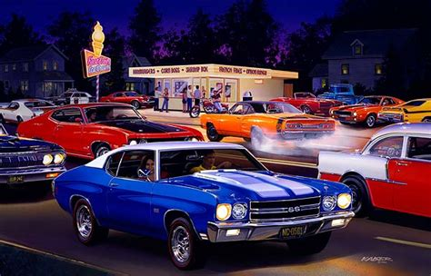 Muscle Car and Hot Rod art, Drag Racing, Technical