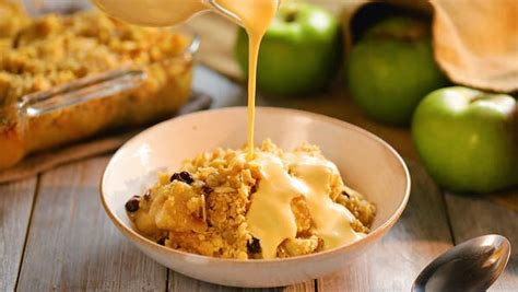 The Best Ever Apple Crumble with Homemade Custard ~ Recipe