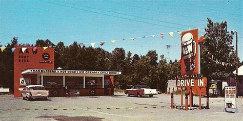A&W Drive-In during the late 1950's