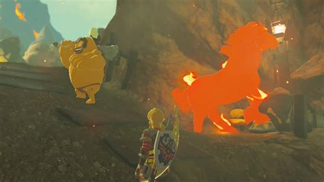 Link Takes Giant Horse to Goron City - Zelda Breath of the