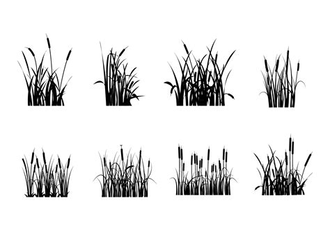 Free Cattails Silhouette Vectors - Download Free Vector