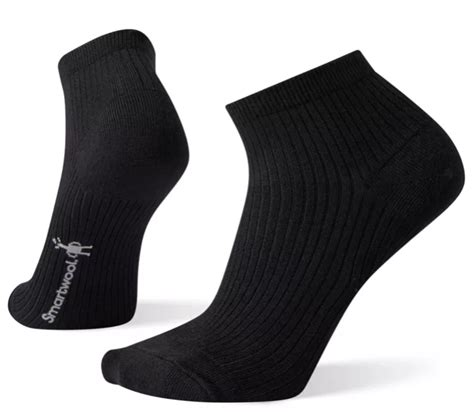 Smartwool Womens Texture Mini Bootie Sock- Black | Cleary