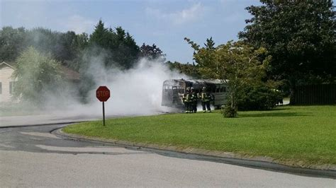 School activity bus catches on fire