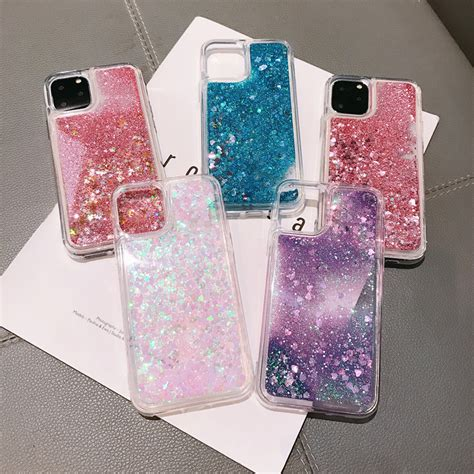 For Iphone Cases Glitter Waterfall Bling Glitter Quicksand