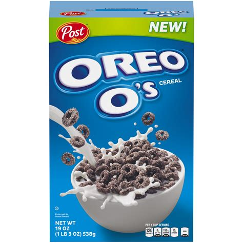 2018 POST OREO O'S CEREAL 19 OZ, COOCKIES FLAVORED