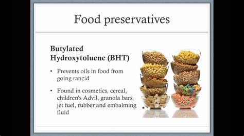 Types of food preservatives - YouTube