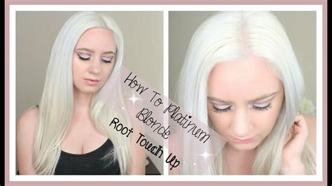 How To Platinum Blonde Root Touch Up - YouTube