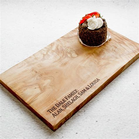 Personalised Natural Olive Wood Cheese Board By The Rustic
