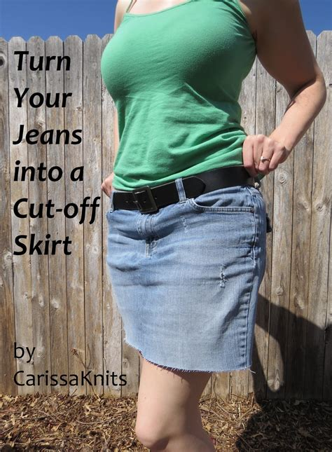 Denim Mini Skirt Refashion · How To Recycle A Pair Of