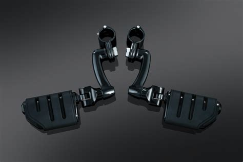 Longhorn Offset Highway Pegs Black / Chrome Indian motorcycles
