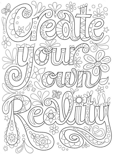 Pin on Quote Coloring Pages for Adults