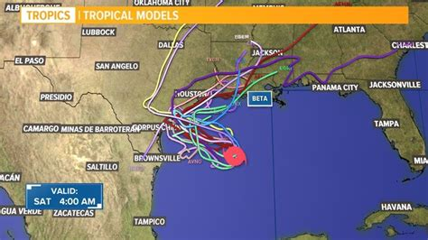 Texas residents watch Tropical Storm Beta track in Gulf of
