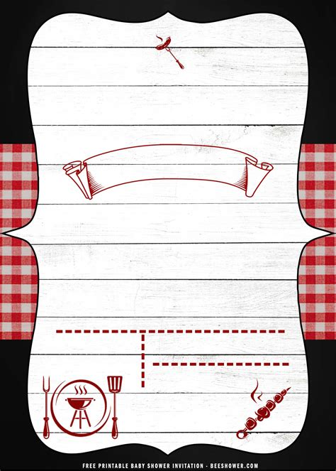 (FREE Printable) – Barbecue Party Invitation Templates