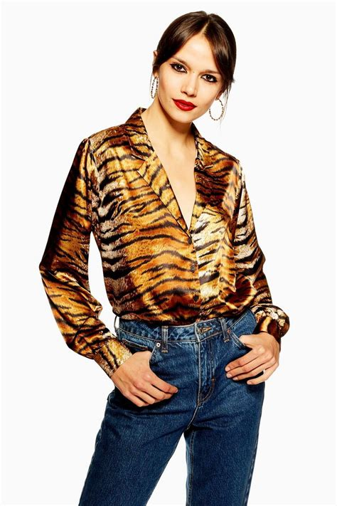 Tiger Print Shirt - New In Fashion - New In - Topshop