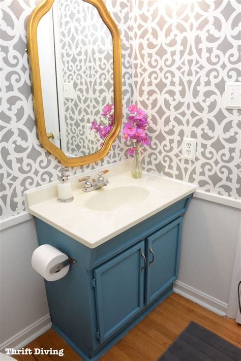 Hometalk   Before & After: A Colorful Small Gray Bathroom