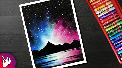 Download Lagu How To Draw A Scenery Of Night Sky Galaxy