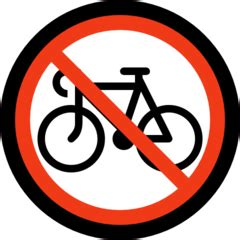 No Bicycles [1f6b3] Emoji Meaning, Images and Uses