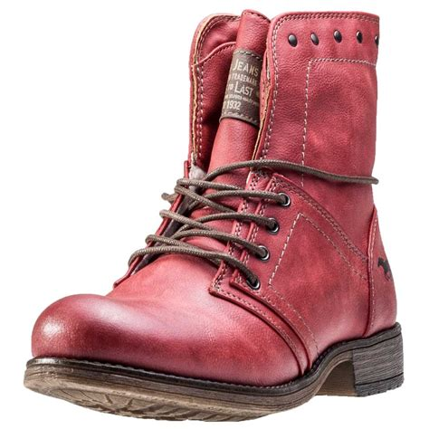 Mustang Ankle Boot Womens Ankle Boots in Red