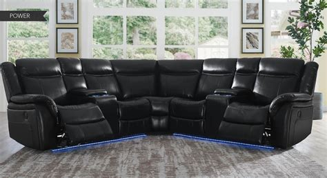 Levin 4pc Power Reclining Sectional - R&B Furniture