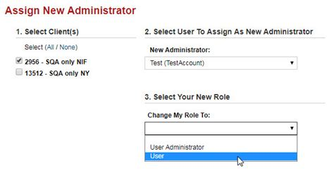 Assign New Administrator