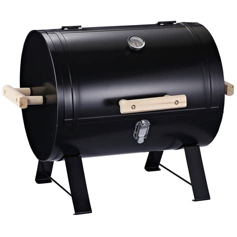 """Outsunny 20"""" Mini Small Smoker Charcoal Grill Side Fire"""