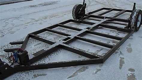 fish house frame one winch - YouTube