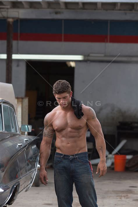 the sexiest shirtless auto repair man   ROB LANG IMAGES