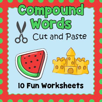Compound Words Cut and Paste Worksheets by Puzzles to