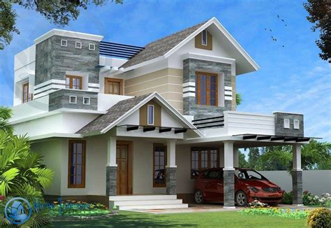 Modern Kerala Style House Design with 4 Bhk