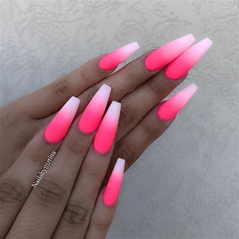 50 Cool Long Nail Designs that Are Easy to Create | Pink