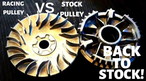Racing Pulley vs Stock Pulley   BACK TO STOCK!   Mio