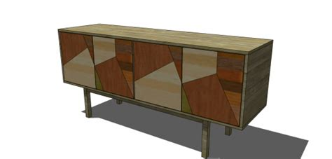 Free DIY Furniture Plans to Build a Prisma Buffet - The