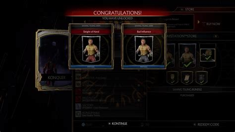 Jacketless movie Shang Tsung skins in the store
