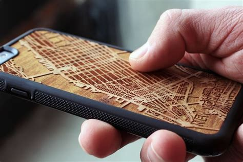 Carved Topographic Smartphone Cases : wooden iphone cases
