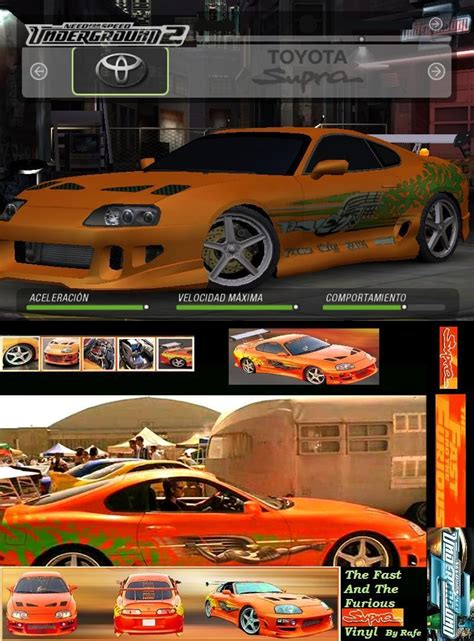 Fast and Furious Supra Vinyl (Need for Speed: Underground