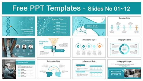 Genome Editing Medical PowerPoint Templates for Free