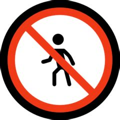 No Pedestrians [1f6b7] Emoji Meaning, Images and Uses