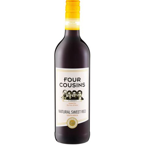 Four Cousins Natural Sweet Red Wine Bottle 750ml   Red