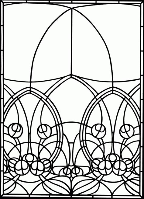 Stained Glass Window Coloring Pages - Coloring Home