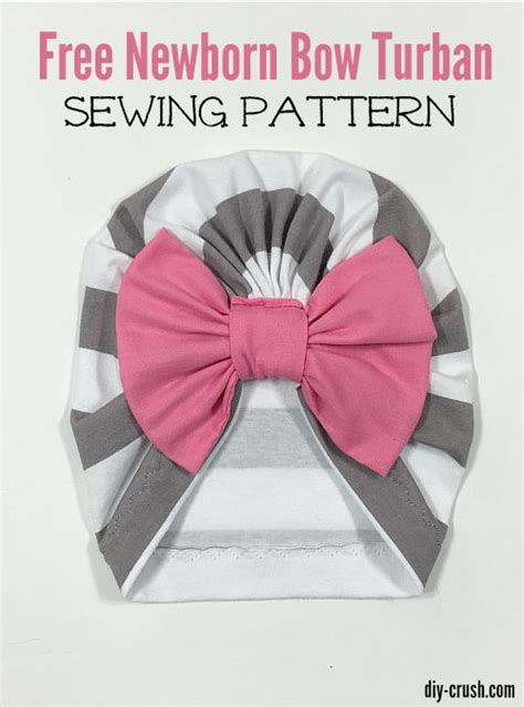 Baby Bow Turban Beanie Sewing Pattern | AllFreeSewing