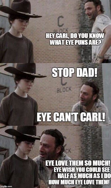 Love Dad Jokes? Here are 20 Funny Rick and Carl Memes