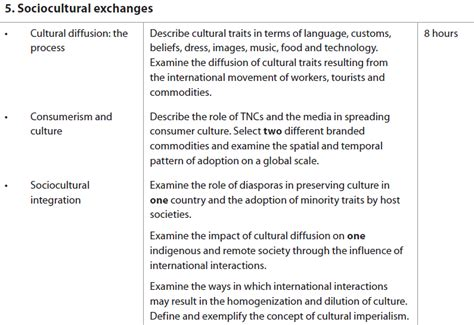Sociocultural Exchanges - THE GEOGRAPHER ONLINE