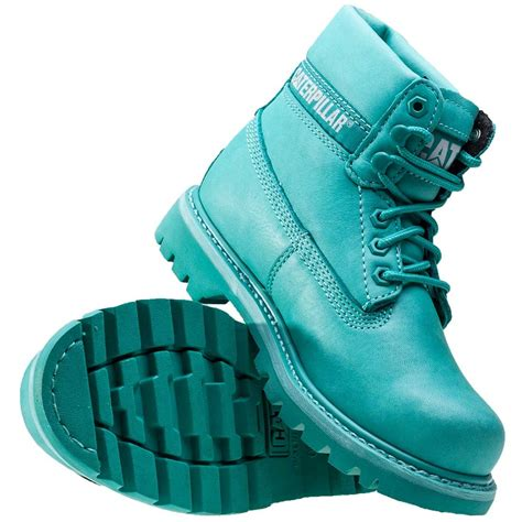 Caterpillar Colorado Womens Boots in Teal