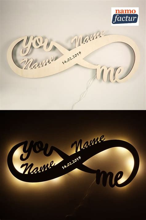Personalized wood night lights / Name Sign / Infinity