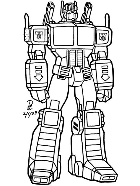 Robot Coloring Pages to download and print for free