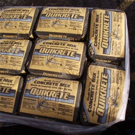 How Many Bags Of 80 Pound Quikrete Are On A Pallet | City